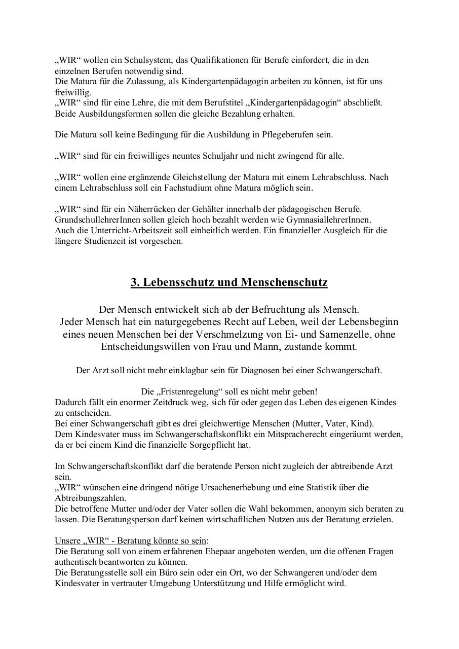 Document preview _WIR_ - Wahlprogramm 2014 vom 19. 8. 2014.pdf - page 3/4