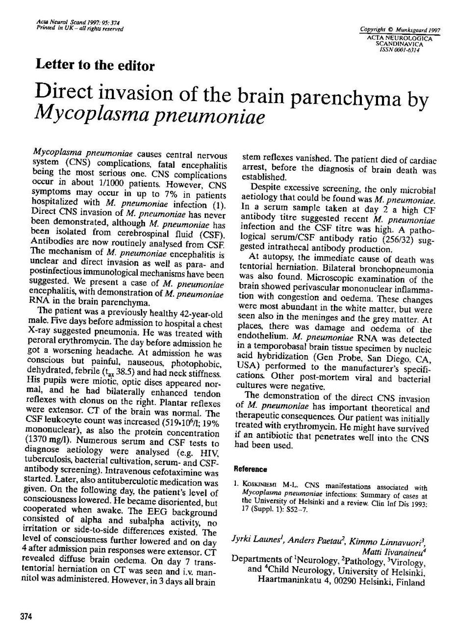 Document preview direct invasion of mycoplasma to cns.pdf - page 1/1