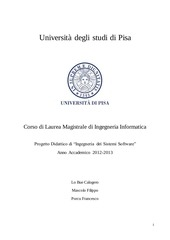 PDF Document progetto di ingegneria dei sistemi software