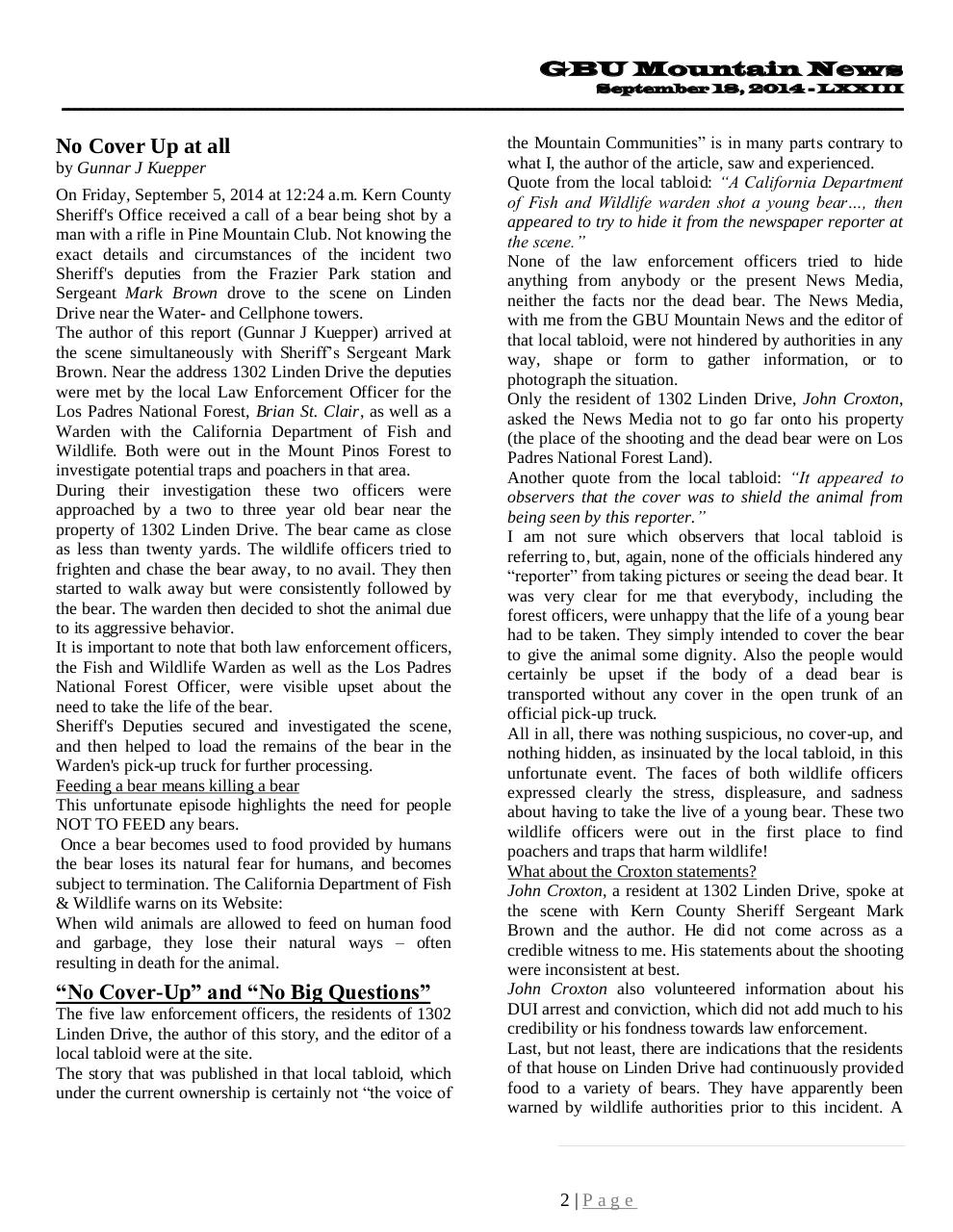 GBU Mountain News LXXIII - September 18, 2014.pdf - page 2/45