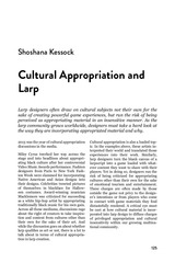 cultural appropriation and larp shoshana kessok