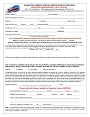 kawartha komets 2014 2015 registration form