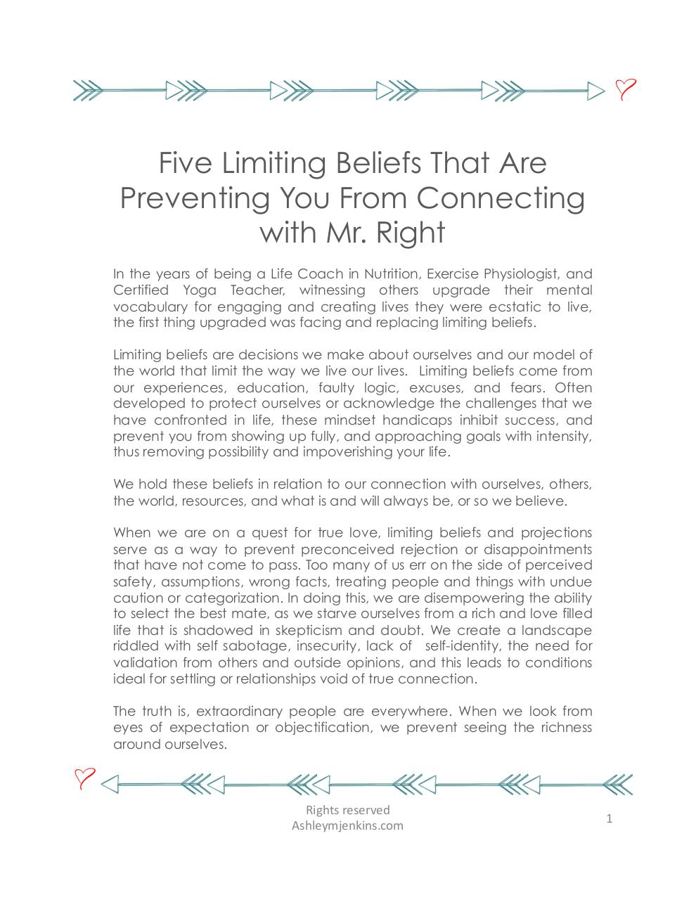 5LimitingBeliefsKeepingYouFromMrRight.pdf - page 1/7