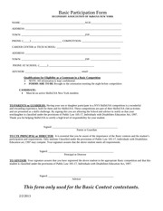 basic participation form2013