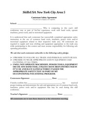 contestant safety agreement form