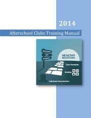 afterschool clubs manual