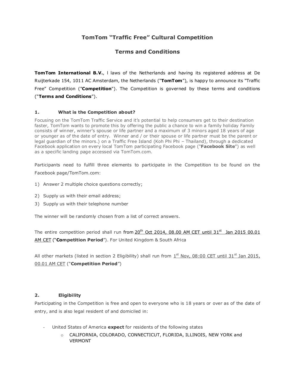 151014 TrafficFree Terms and Conditions v 3 SW FINAL.pdf - page 1/7