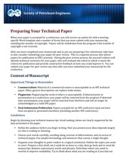 how to prepare your technical paper