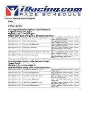 2014 season 4 schedule