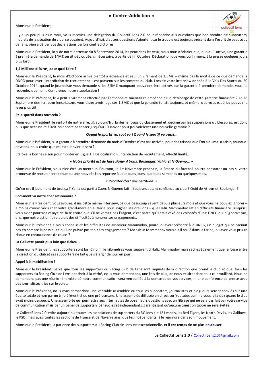 Document preview Communiqué n3 - 22 Octobre 2014.pdf - page 1/1
