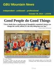 gbu mountain news lxxviii october 30 2014