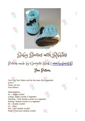 PDF Document crochet pattern booties georgette