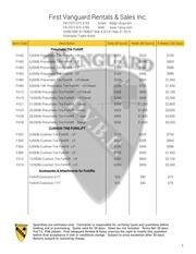 general rental price list