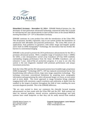 zonare press release medica 2014 english