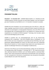 zonare press release medica 2014 german
