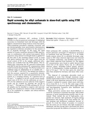 abc ethyl carbamate ftir