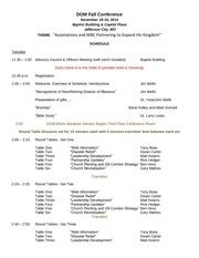 fall dom schedule 2014