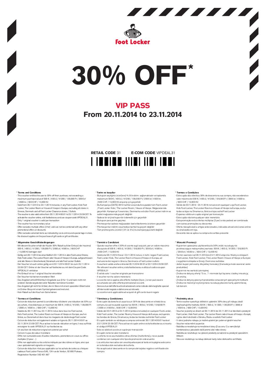 foot locker vip welcome coupon