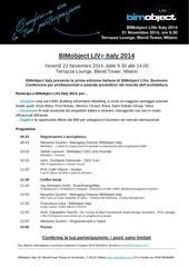 programma bimobject live italy 2014