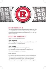 varsity r info sheet