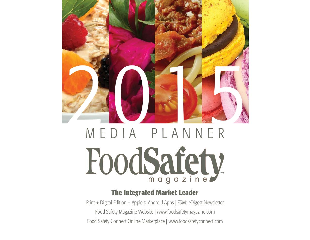 2015Food Safety Magazine Media Kit.pdf - page 1/10