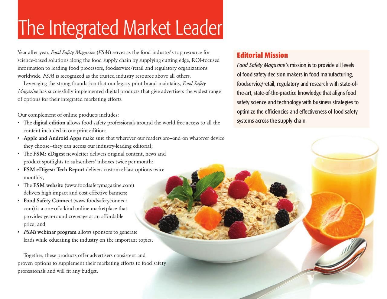 2015Food Safety Magazine Media Kit.pdf - page 2/10