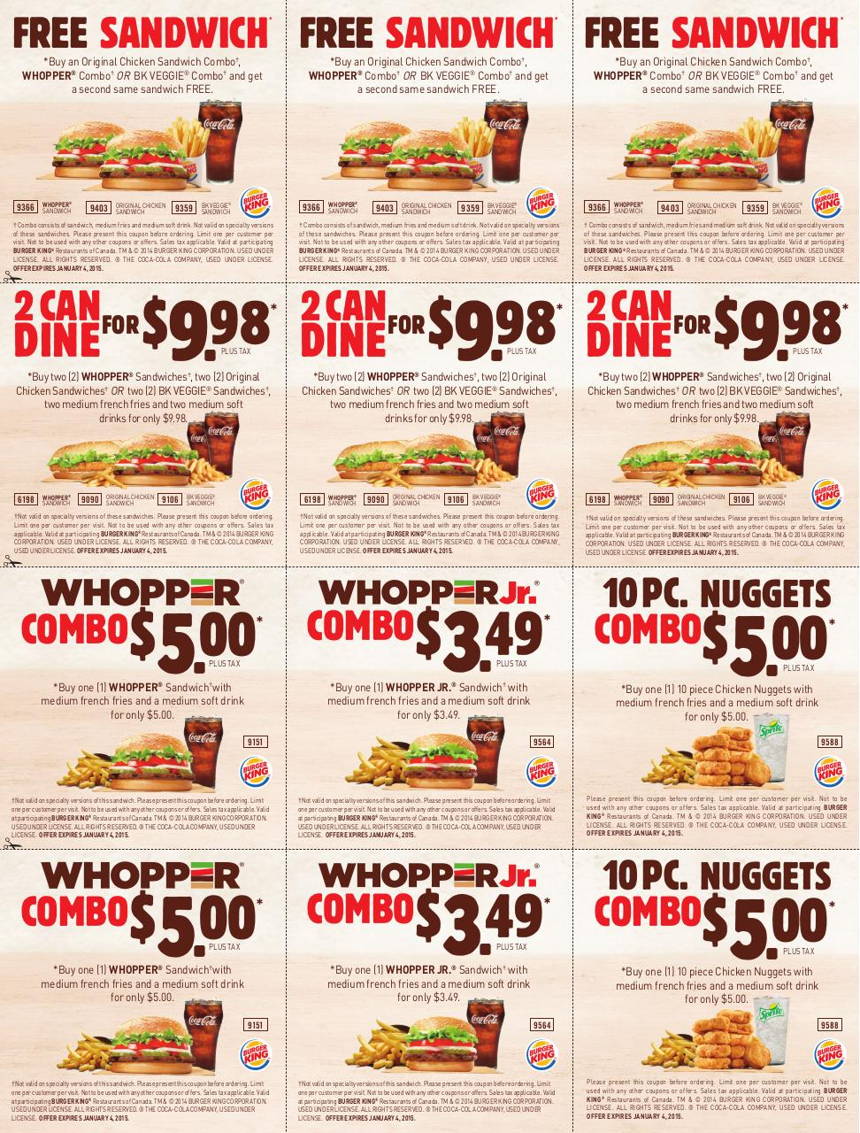Fast Food Coupons In Mississauga
