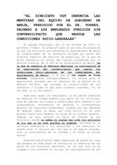 nota de prensa de ugt berja
