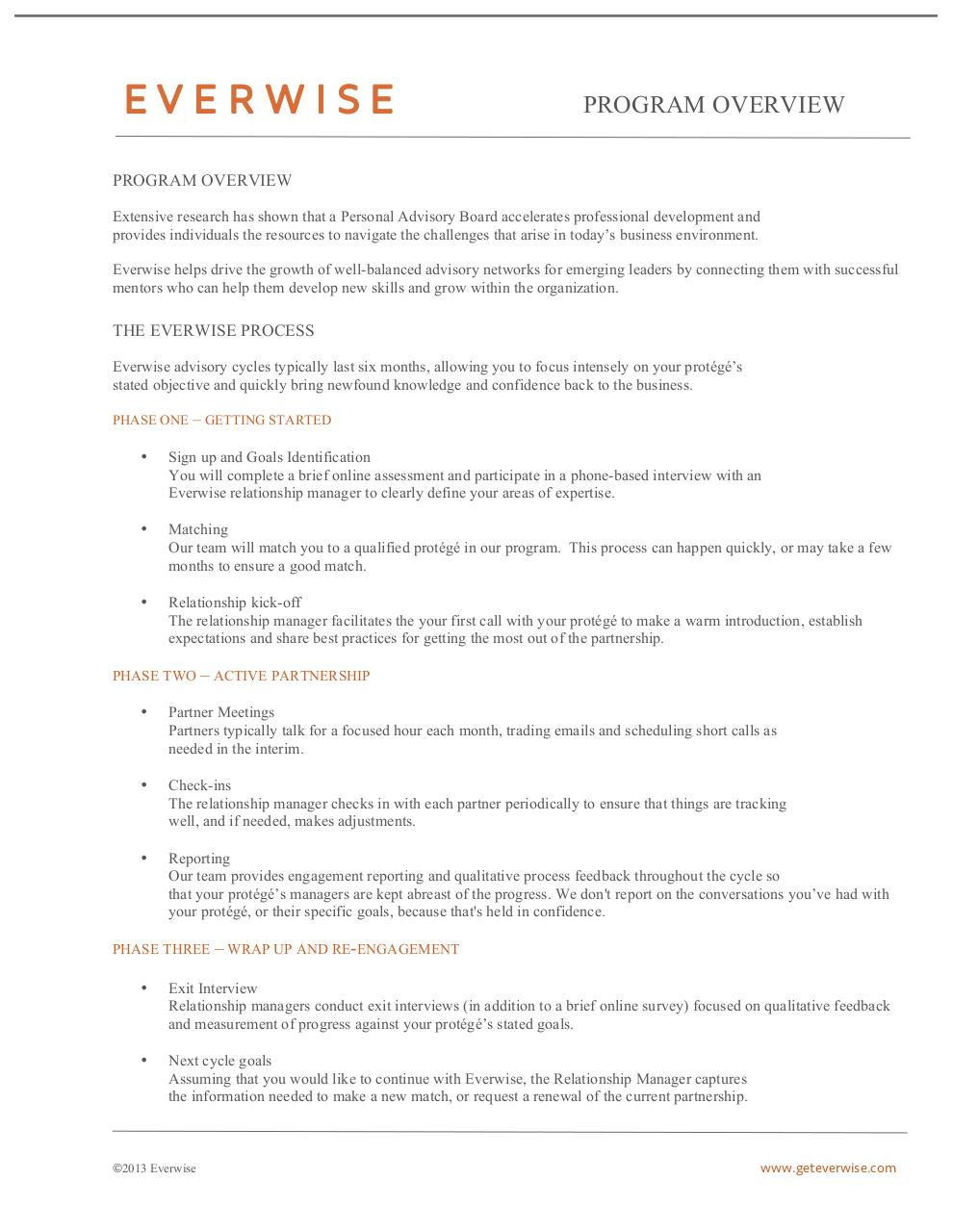Document preview Everwise Program Overview - Mentor.pdf - page 1/1
