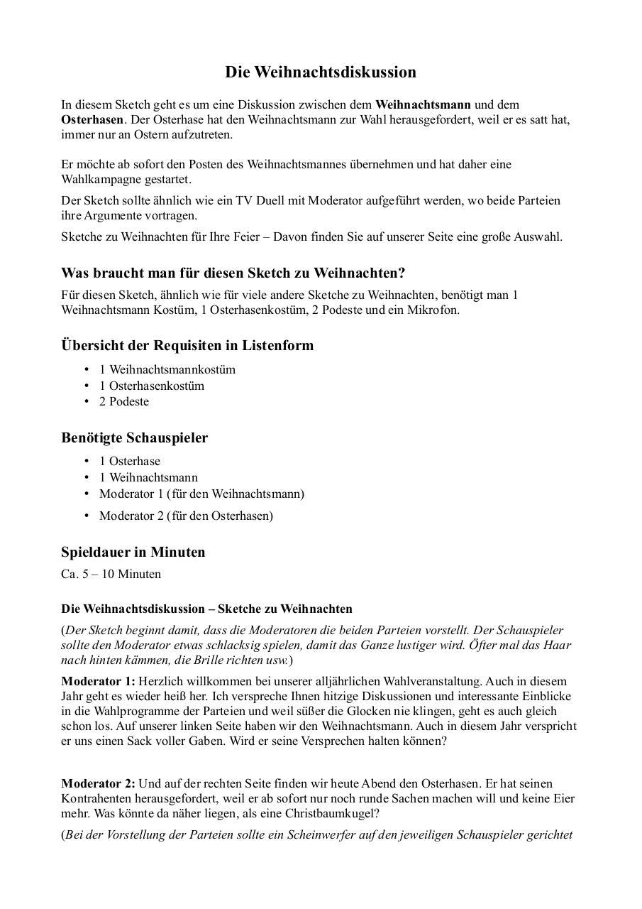 Weihnachtsdiskussion by Sarah Raissa Scheikowski - PDF Archive