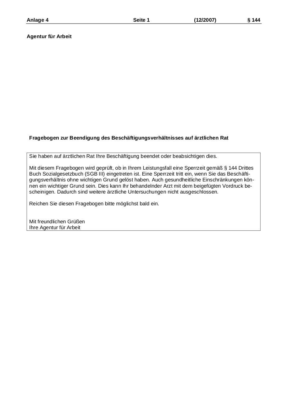 Download Kündigung Auf ärztlichen Rat Formular Pdf Formular