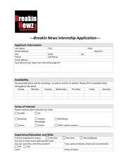 breakin newz intern application