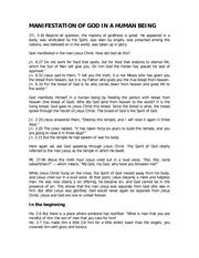 PDF Document manifestation