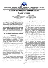 ijeee 10 14 hand vein structure authentication