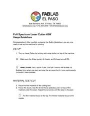 full spectrum laser cutter 45w usage
