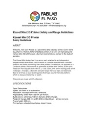 kossel mini 3d printer safety and usage guidelines