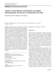 wenzl analysis of heat induced contaminants
