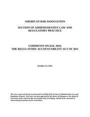american bar comments on raa of 2011