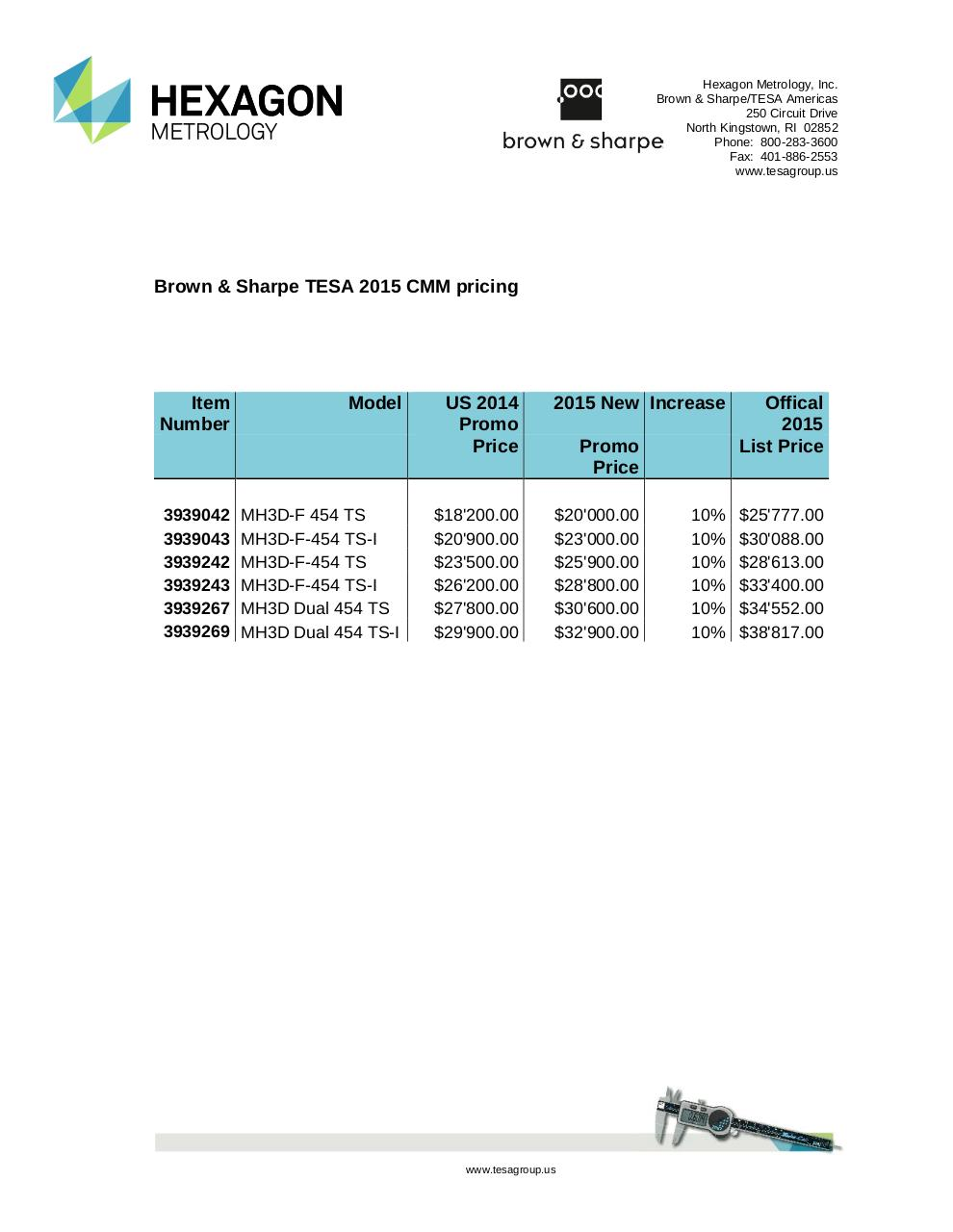 Document preview 2015 CMM Pricing.pdf - page 1/1
