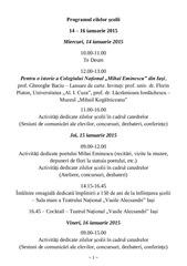 programul zilelor u015fcolii 2015 final