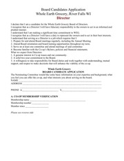 board candidate application 2015