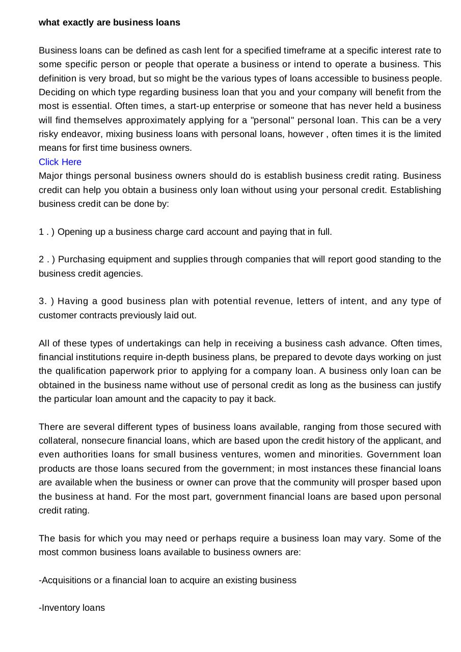 what exactly are business loans1409.pdf - page 1/2