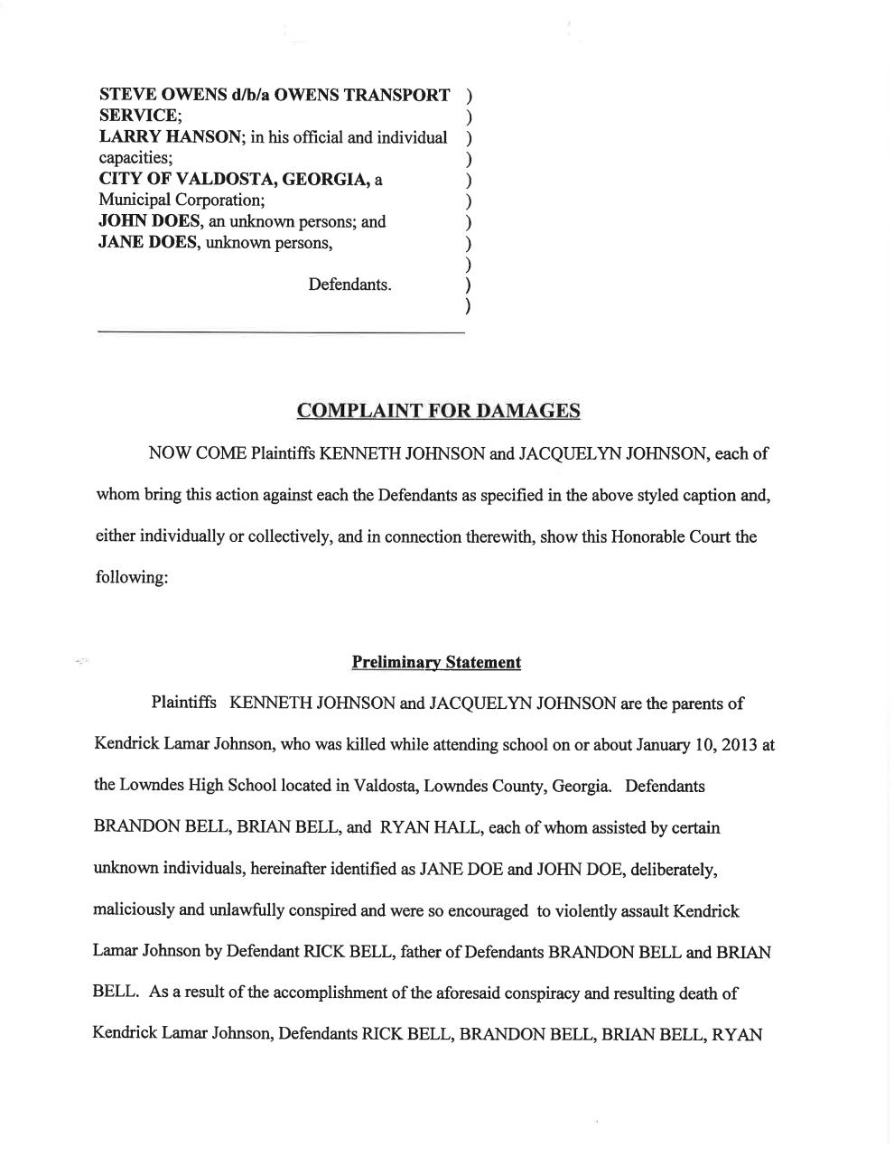 252758721-Kendrick-Johnson-Amended-Lawsuit-Pt-II.pdf - page 4/29