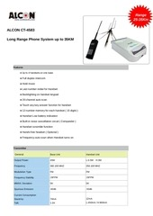 alcon ct 4583 long range phone spec in pdf www shop wifi com