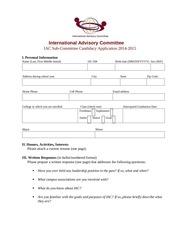 sub c aplication spring 2014 15