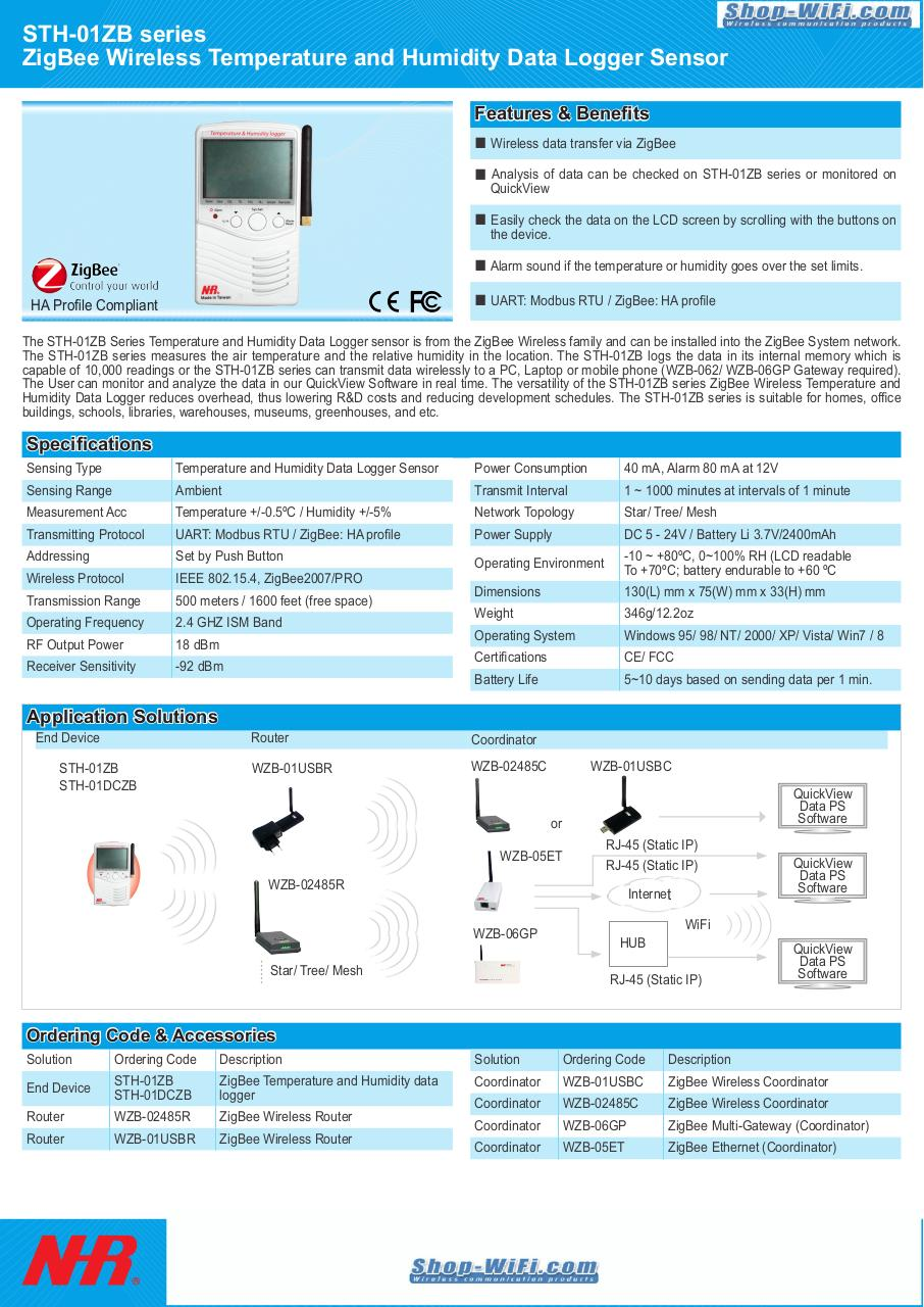 Document preview Wireless Temperature and Humidity Data Logger Sensor.pdf - page 1/1