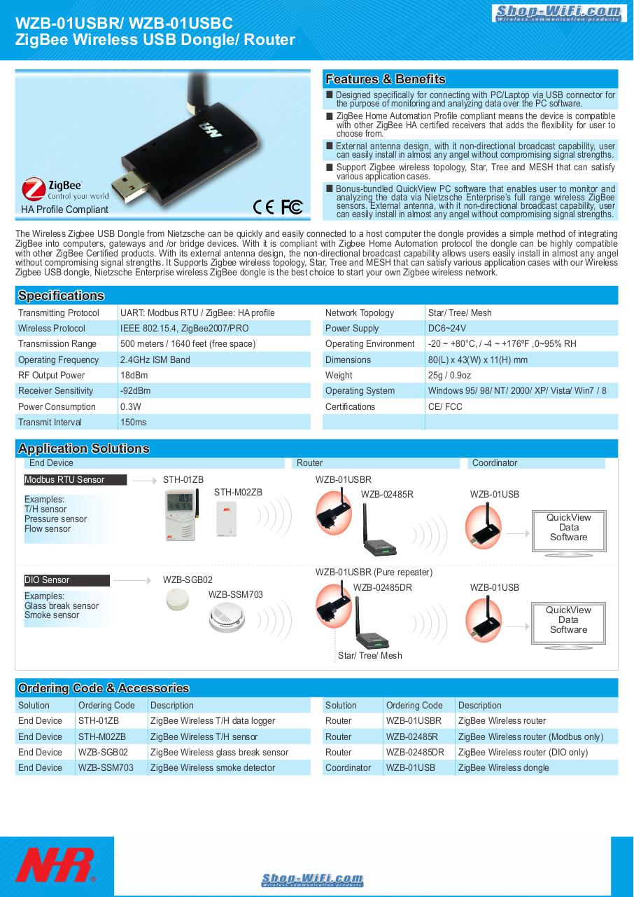 Document preview WZB-01USBR ZigBee Wireless USB Dongle Router.pdf - page 1/1