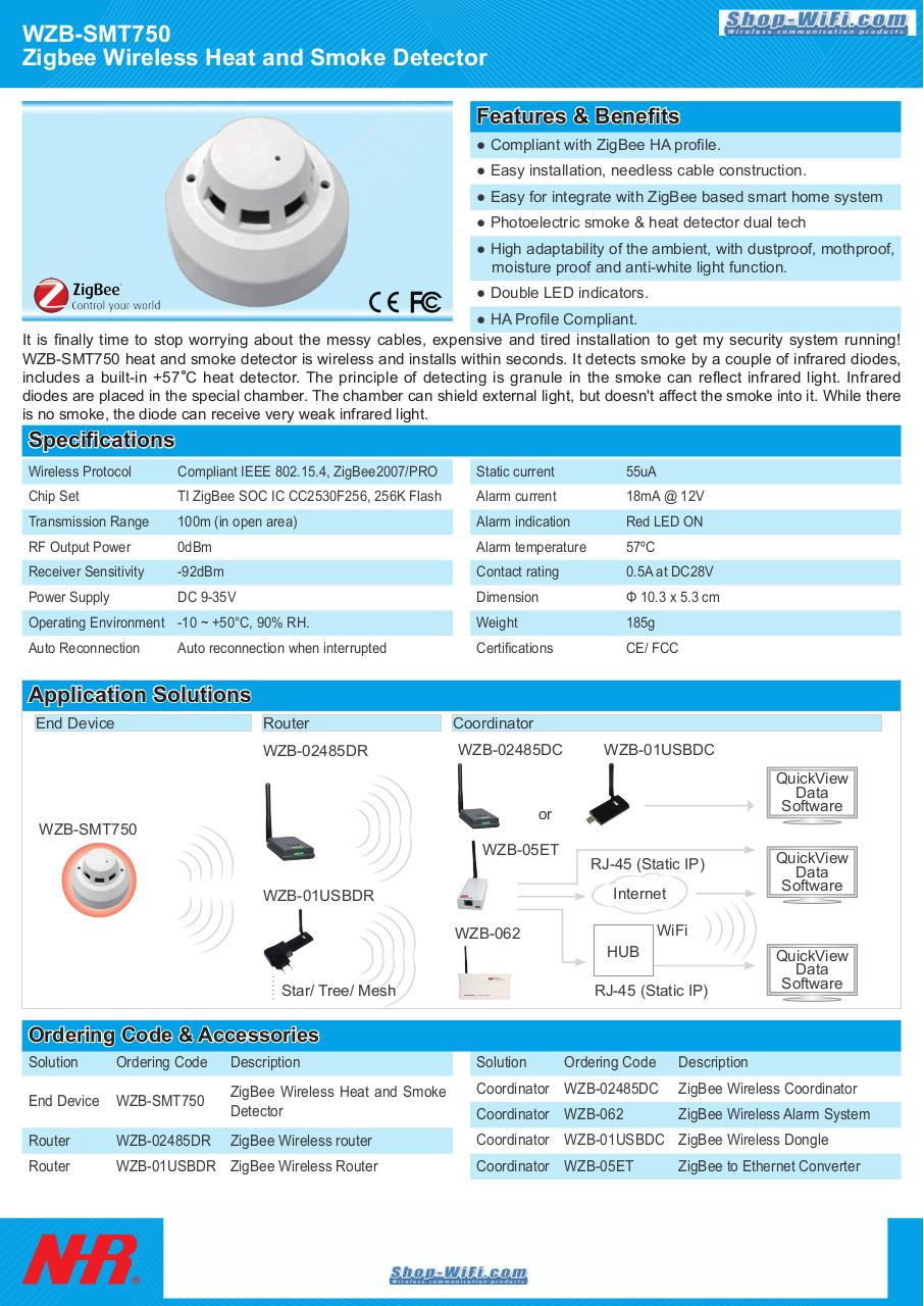 Document preview WZB-SMT750 Zigbee Wireless Heat and Smoke Detector.pdf - page 1/1