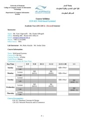 cis 423 syllabus web based systems 2014 2015