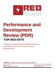 performance and development review pdr